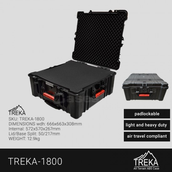 TREKA CASES - plastic molded/waterproof